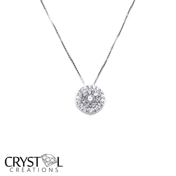 925 Sterling silver Fancy cluster pendant with free chain