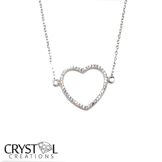 925 Sterling silver Big heart pendant with free chain