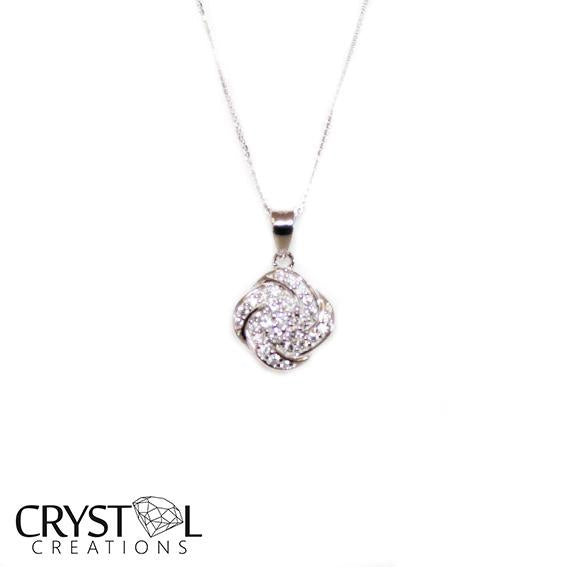 925 Sterling silver Forever rose pendant with free chain
