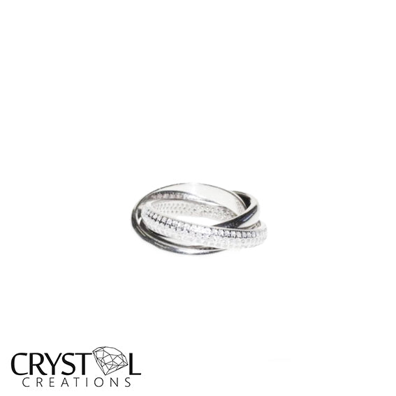 925 Sterling Single Cross Over Trio Set - Ring