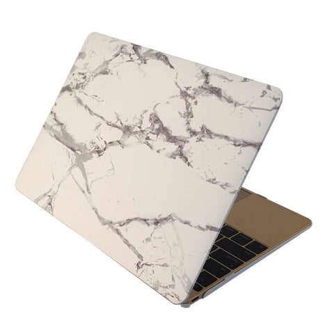 "White & Silver Marble Laptop Case for MacBook Retina Display 12"" [A1534] (Silver Marble)"