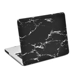 "Black & Silver Marble Laptop Case for MacBook Pro NON-Retina Display (with CD-Rom) 15"" [A1286] (Black & Silver Marble)"
