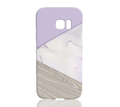 Lavender Wood & Marble Tangram Phone Case - Samsung Galaxy S7 Edge - Cinderbloq Cases & Accessories