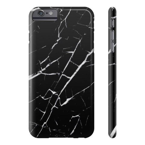 Black and White Marble Phone Case - iPhone 6 Plus / 6s Plus - CinderBloq Cases & Accessories