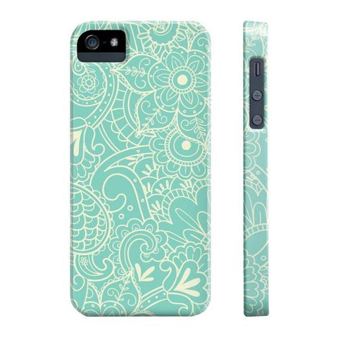 Paisley Print in Teal Phone Case - iPhone 5/5s/5se - Cinderbloq Cases