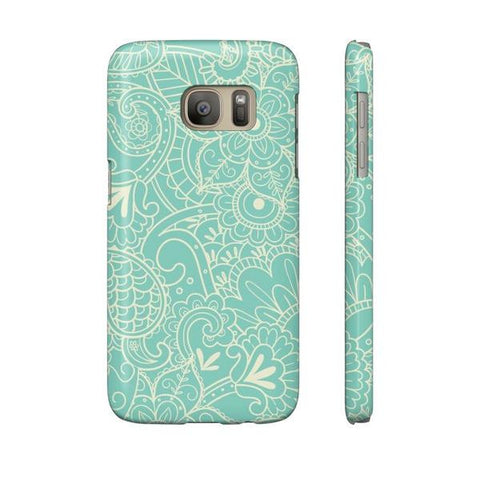 Paisley Print in Teal Phone Case - Samsung Galaxy S7 - Cinderbloq Cases