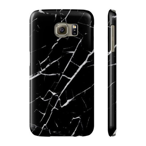 Black and White Marble Phone Case - Samsung S6 - Cinderbloq Cases & Accessories