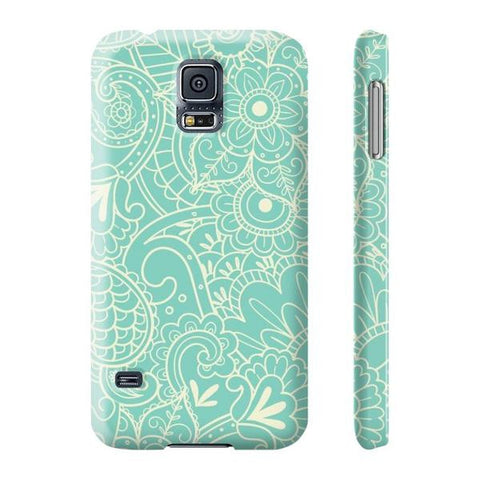 Paisley Print in Teal Phone Case - Samsung Galaxy S5 - Cinderbloq Cases