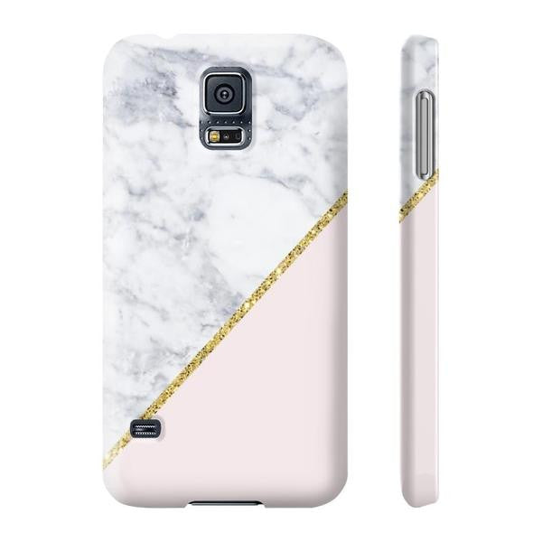 Pink Marble Gold Glitter Phone Case Samsung Galaxy S5