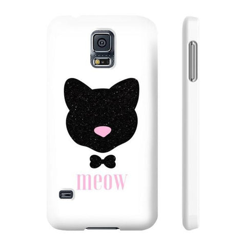 Meow! Glitter Cat Phone Case - Samsung Galaxy S5 - Cinderbloq Cases & Accessories