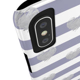 Brush Silver Striped Hearts Phone Case - iPhone 5c - CinderBloq Cases & Accessories