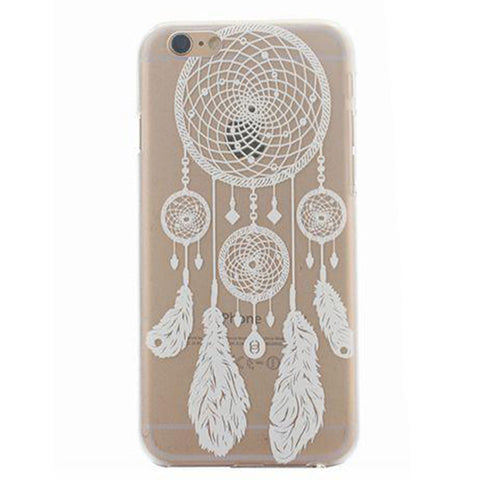 White Henna Dream Catcher Transparent Mandala iPhone Case - Cinderbloq Cases & Accessories