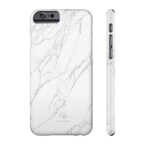 White Stone Marble Phone cases
