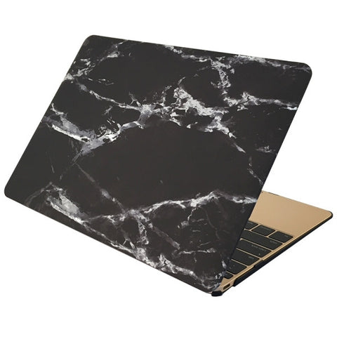 "Black & Silver Marble Laptop Case for MacBook Retina Display 12"" [A1534] (Black & Silver Marble)"