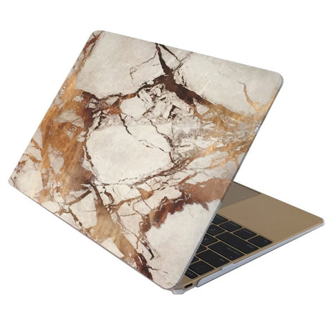 "White & Gold Marble Laptop Case for MacBook Retina Display 12"" [A1534] (Gold Marble)"