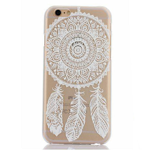 White Henna Sun Lace Dream Catcher Transparent Mandala iPhone Case - CinderBloq Cases & Accessories
