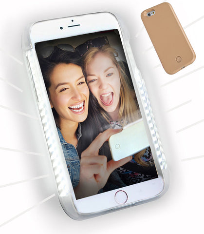 LED Illuminated Selfie Light iPhone Case - Cinderbloq Cases & Accessories