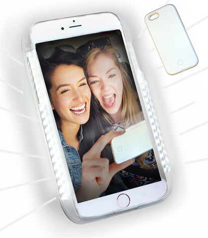 LED Illuminated Selfie Light iPhone Case (Snow White) - Cinderbloq Cases & Accessories