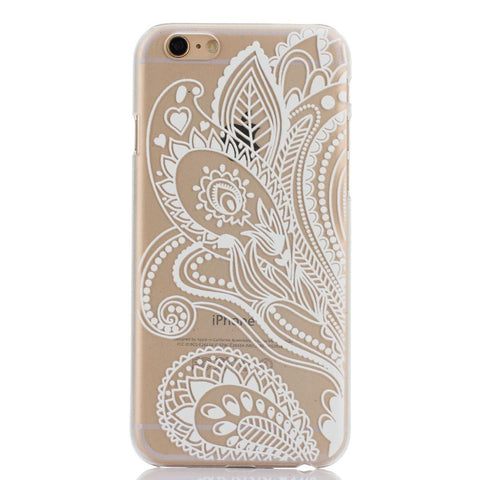 White Floral Paisley Transparent iPhone Case - Cinderbloq Cases & Accessories