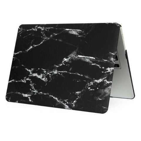 Black Silver Marble Laptop Case For Macbook Air 13 A1369 A1466