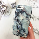 Blue Pearl Marble Phone Case - iPhone 8 - CinderBloq Cases & Accessories