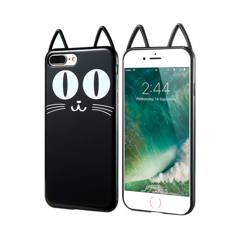3D Black Kitty Cat Silicone - B - TPU iPhone Case - iPhone 7 Plus - Cinderbloq Cases & Accessories