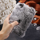 D'Luxe Fur Phone Case (Grey) - iPhone 5/5s/5se - Cinderbloq Cases & Accessories