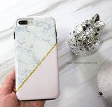 Pink Marble Gold Glitter Phone Case