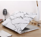 "White & Silver Marble Laptop Case for MacBook Retina Display 12"" [A1534] (Silver Marble) - Cinderbloq Cases & Accessories"