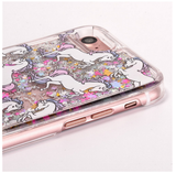 Fairy Dust Unicorn Liquid Glitter Stars Waterfall Case (Silver)