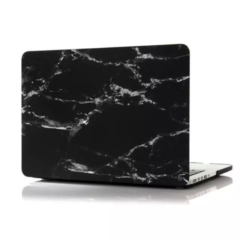 "Black & Silver Marble Laptop Case for MacBook Pro with Retina Display 13"" [A1425/A1502] (Black & Silver Marble)"