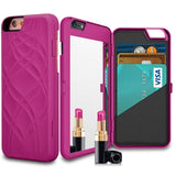 Mirror & Wallet iPhone Case (Rose) - CinderBloq Cases & Accessories