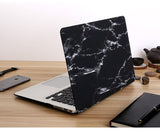 "Black & Silver Marble Laptop Case for MacBook Pro with Retina Display 13"" [A1425/A1502] (Black & Silver Marble) - Cinderbloq Cases & Accessories"