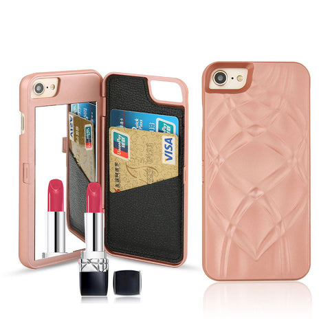 Mirror & Wallet iPhone Case (Rose Gold) - Cinderbloq Cases & Accessories