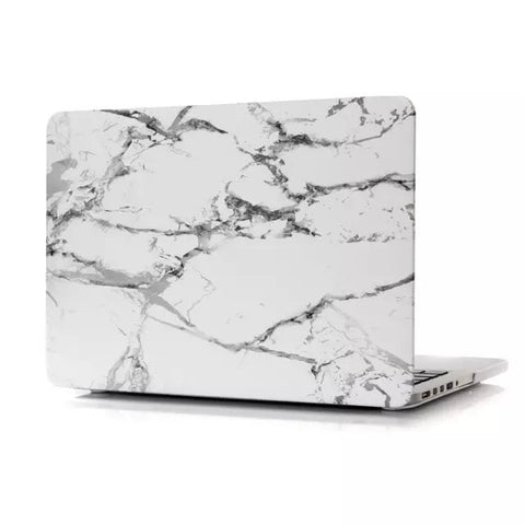 "White & Silver Marble Laptop Case for MacBook Pro with Retina Display 15"" [A1398] (Silver Marble)"