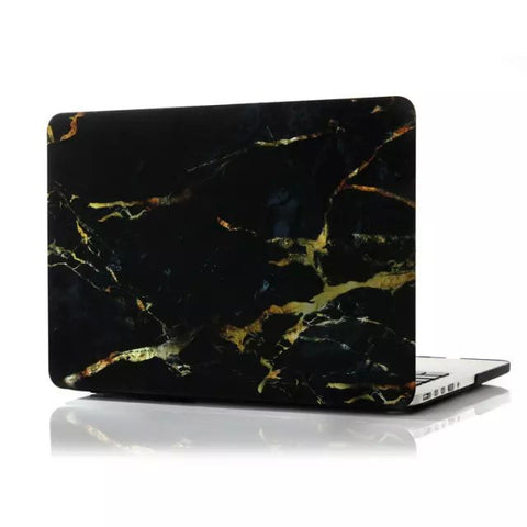 "Black & Gold Marble Laptop Case for MacBook Pro with Retina Display 15"" [A1398] (Black & Gold) - CinderBloq Cases & Accessories"
