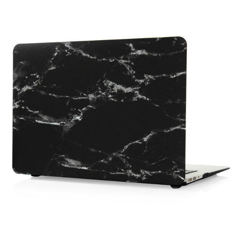 "Black & Silver Marble Laptop Case for MacBook Air 13"" [A1369/A1466] (Black & Silver Marble) - CinderBloq Cases & Accessories"