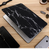"Black & Silver Marble Laptop Case for MacBook Retina Display 12"" [A1534] (Black & Silver Marble) - Cinderbloq Cases & Accessories"