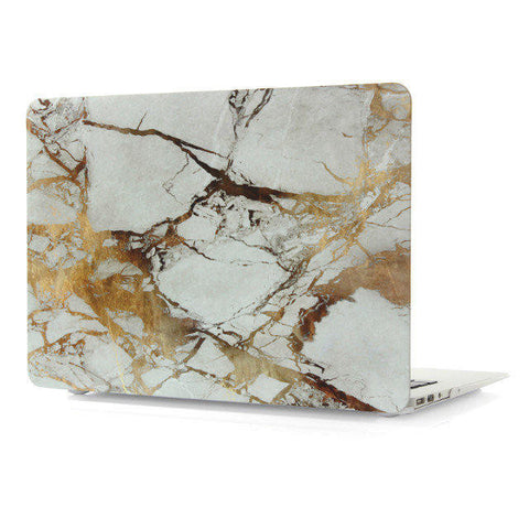 "White & Gold Marble Laptop Case for MacBook Air 13"" [A1369/A1466] (Gold Marble)"