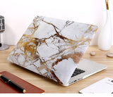 "White & Gold Marble Laptop Case for MacBook Pro NON-Retina Display (with CD-Rom) 13"" [A1278] (Gold Marble) - Cinderbloq Cases & Accessories"