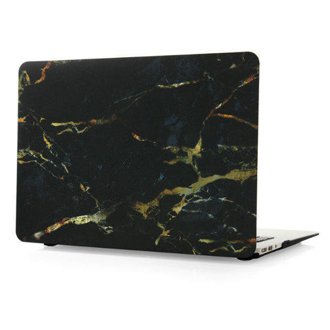 "Black & Gold Marble Case for MacBook Air 13"" [A1369/A1466] (Black & Gold) - CinderBloq Cases & Accessories"