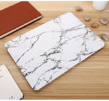 "White & Silver Marble Laptop Case for MacBook Pro NON-Retina Display (with CD-Rom) 13"" [A1278] (Silver Marble) - Cinderbloq Cases & Accessories"