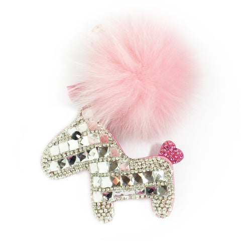 Crystal Encrusted Pony Handbag Charm (Pink) - CinderBloq Cases & Accessories
