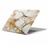 "White & Gold Marble Laptop Case for MacBook Pro with TOUCH BAR 13"" [A1706/A1708] (Gold Marble)"