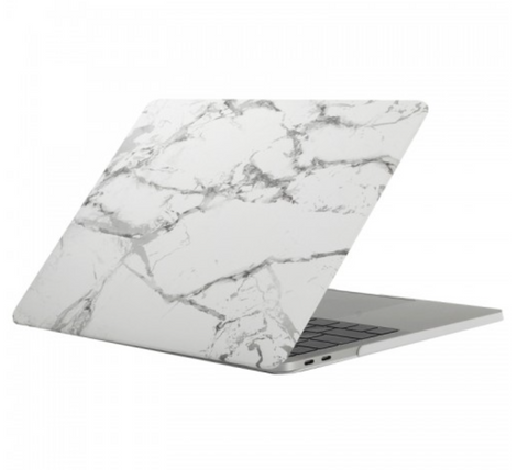 "White & Silver Marble Case for MacBook Pro with TOUCH BAR 13"" [A1706/A1708] (Silver Marble) - CinderBloq Cases & Accessories"