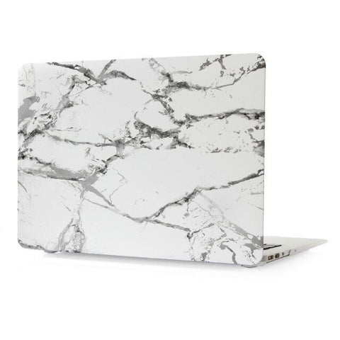 "White & Silver Marble Laptop Case for MacBook Air 11"" [A1370/A1465] (Silver Marble)"