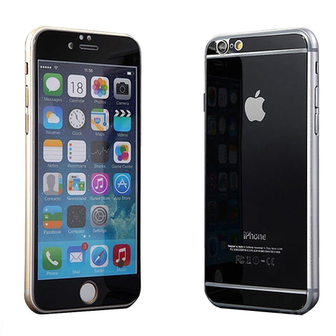 Tempered Glass Mirror Effect Chrome Screen Protector (Black) - CinderBloq Cases & Accessories