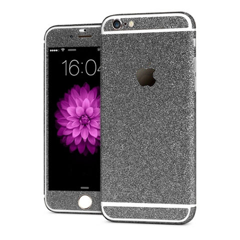 'All Blinged Out' Full Body Protective Glitter Decal Phone Skin (Black) - Cinderbloq Cases & Accessories