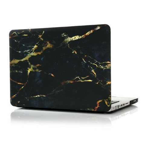 "Black & Gold Marble Laptop Case for MacBook Pro NON-Retina Display (with CD-Rom) 15"" [A1286] (Black & Gold) - CinderBloq Cases & Accessories"