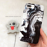 Black Ice Marble Phone Case - Samsung Galaxy S7 Edge